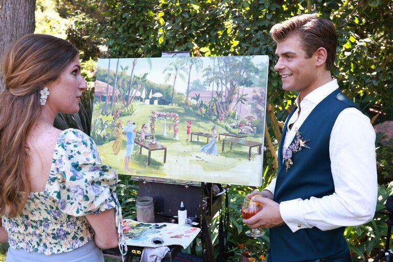 garrett clayton wedding painter live