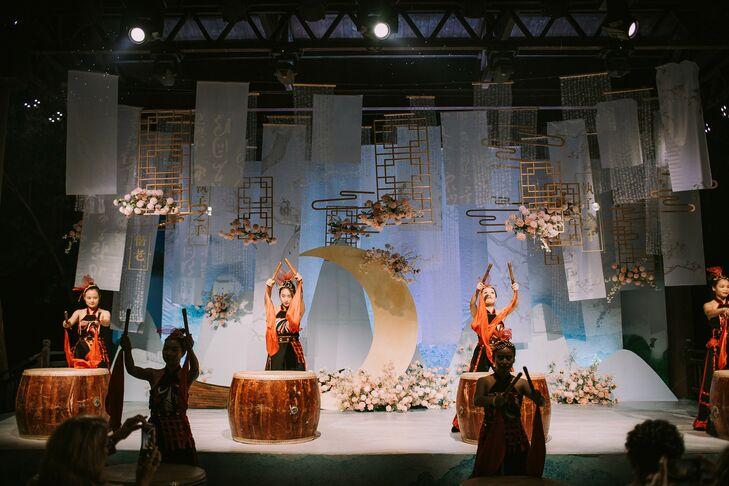 Drum Performers at Wedding in Zhangjiajie, China