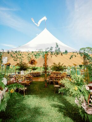Sailcloth Tent at Bohemian Wedding in Naples, Florida