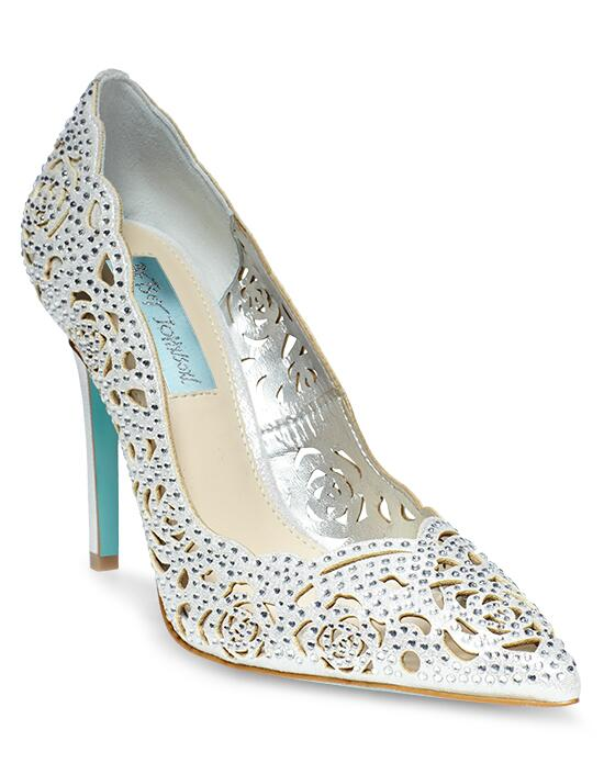 Blue by Betsey Johnson SB-ELSA-silver Wedding Shoes photo