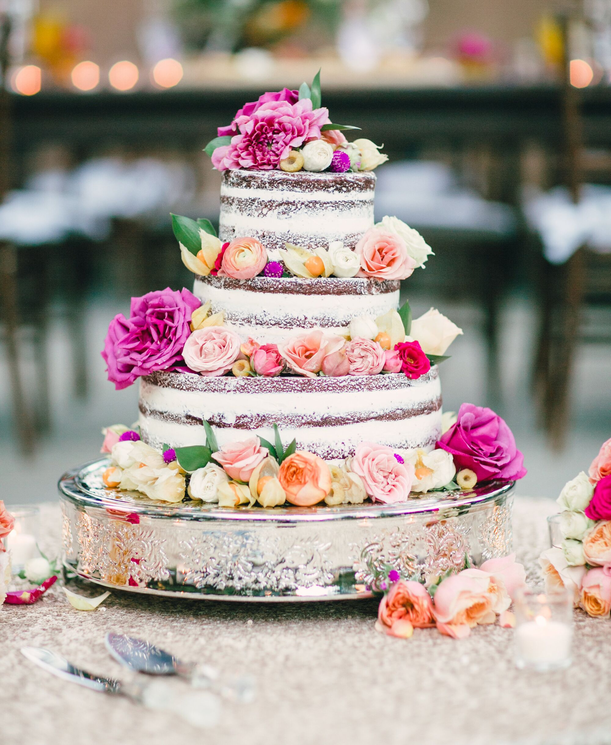 10 Stunning Naked Wedding Cake Ideas You Ll Love