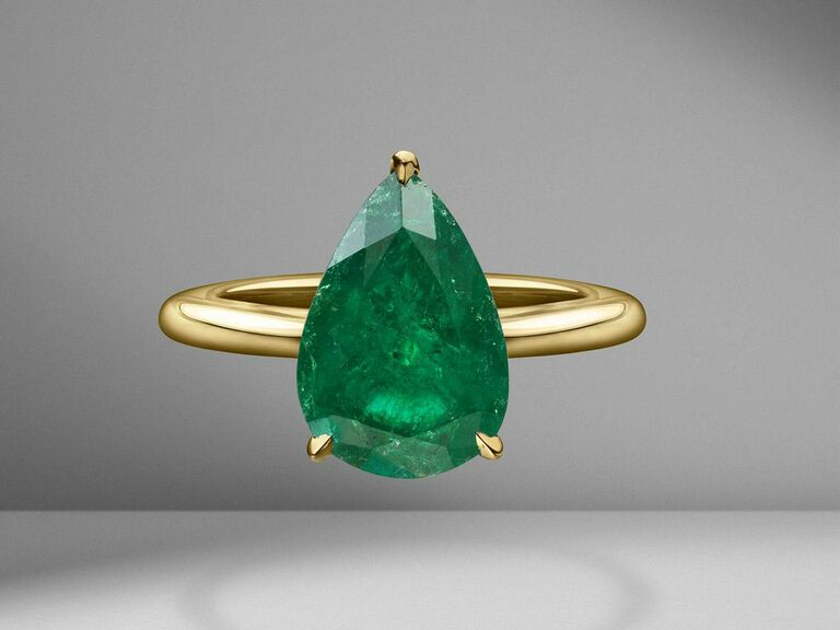 Material Good emerald engagement ring