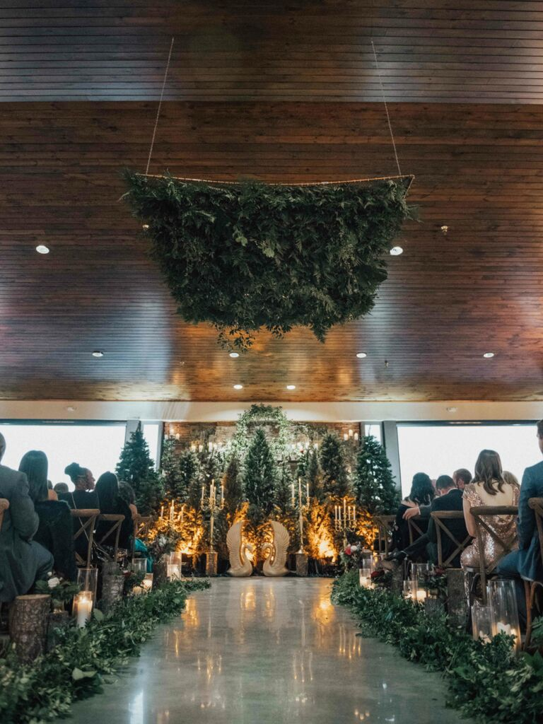 winter wedding ideas greenery