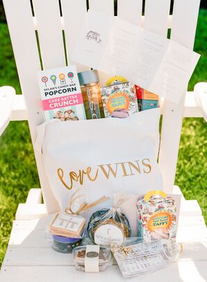 Pride-Themed Welcome Bag with Local Candy and Snacks