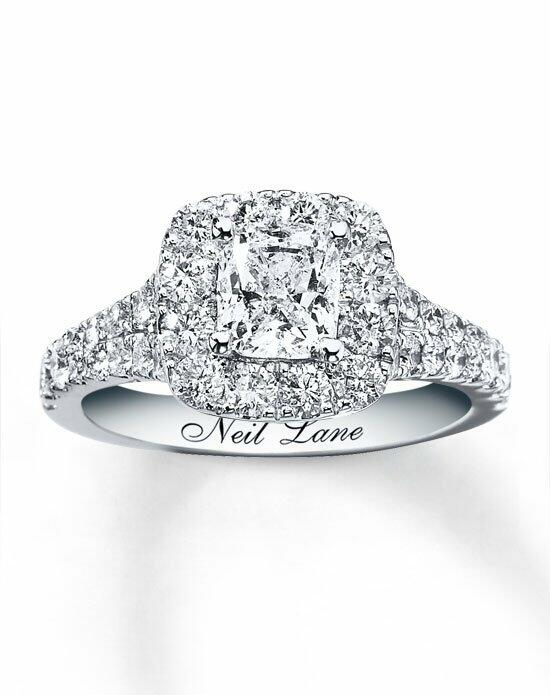 Neil Lane 14kw 2-1/2cttw Cushion Cut Bridal Set-940233900 Engagement Ring photo
