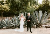Mira Kostishak did not have to look farfor wedding inspiration. Her chic, bohemian outdoor wedding to Nate Bourque at Leo Carrillo Ranch in Carlsbad,