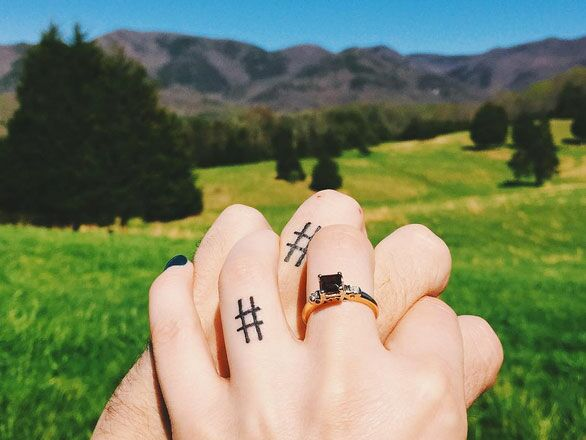 40 Sweet Wedding Ring Tattoos You Ll Want To Copy