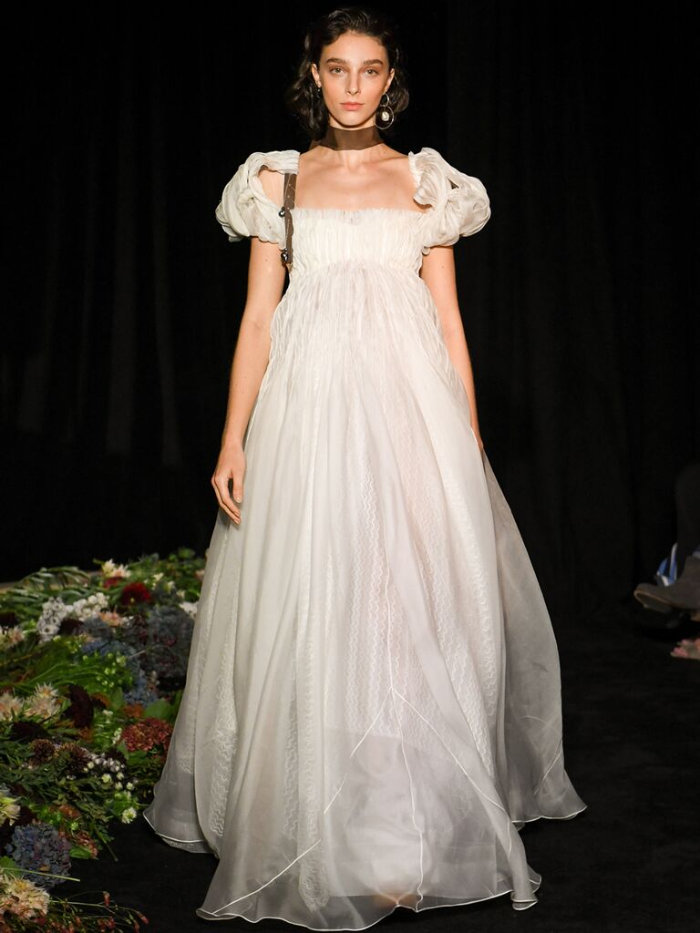 Sheer Empire Wedding Dress