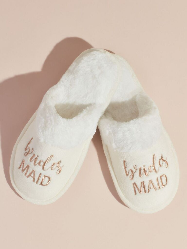 Cozy slippers inexpensive bridesmaid gift