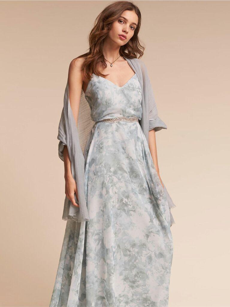 gray bridesmaid pashmina