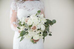 Romantic Garden Rose, Peony and Eucalyptus Bouquet
