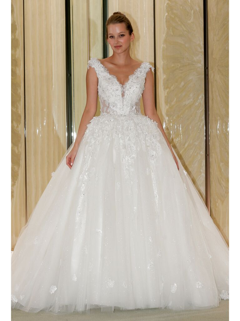 Randy Fenoli Fall 2019 Bridal Collection sparkly tulle ball gown with embellished bodice