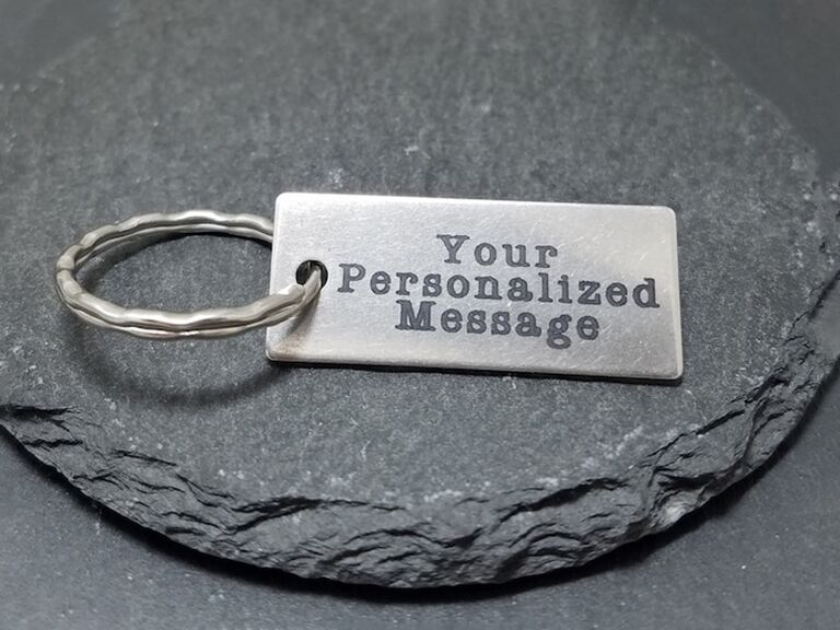 etsy personalized message keychain for bachelor party favors