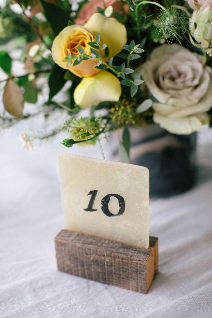 Simple, Rustic Table Numbers