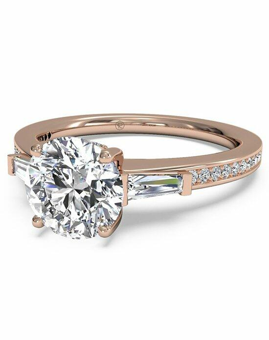 Ritani Round Cut Tapered Baguette Diamond Band Engagement Ring in 18kt Rose Gold (0.39 CTW) Engagement Ring photo