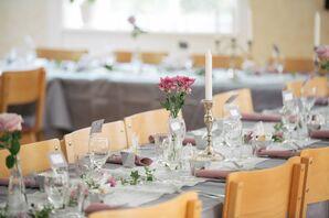 Long Gray Reception Table