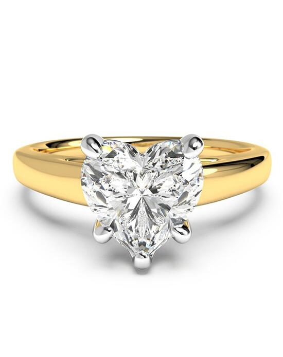 Ritani Solitaire Diamond Cathedral Engagement Ring - in 18kt Yellow Gold for a Heart Center Stone Engagement Ring photo