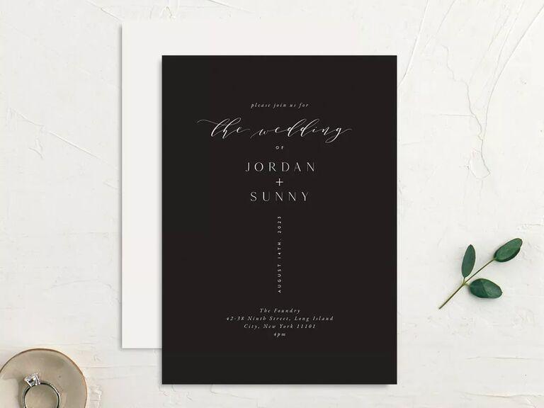 free wedding invitations black invites