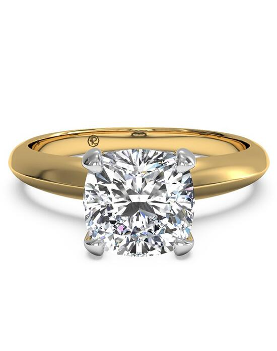 Ritani Solitaire Diamond Knife-Edge Engagement Ring - in 18kt Yellow Gold for a Cushion Center Stone Engagement Ring photo
