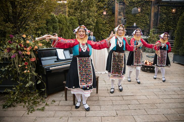 Traditional Greek Folk Dancers at The Foundry in Long Island City, New York