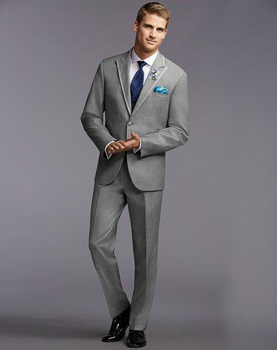 The Men's Wearhouse® Satin Edge Gray Tuxedo Wedding Tuxedos + Suit photo