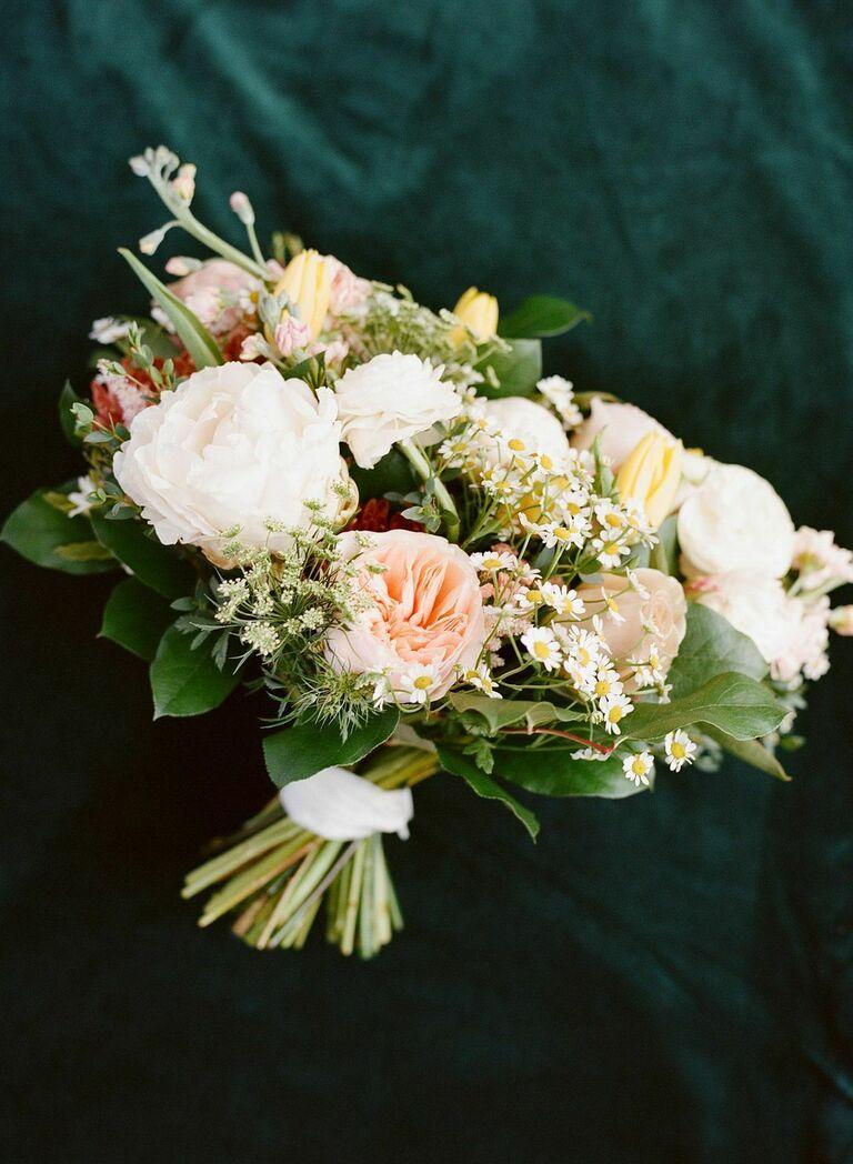 Classic garden rose bouquet