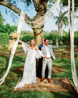 Recessional at Bohemian Wedding in Naples, Florida