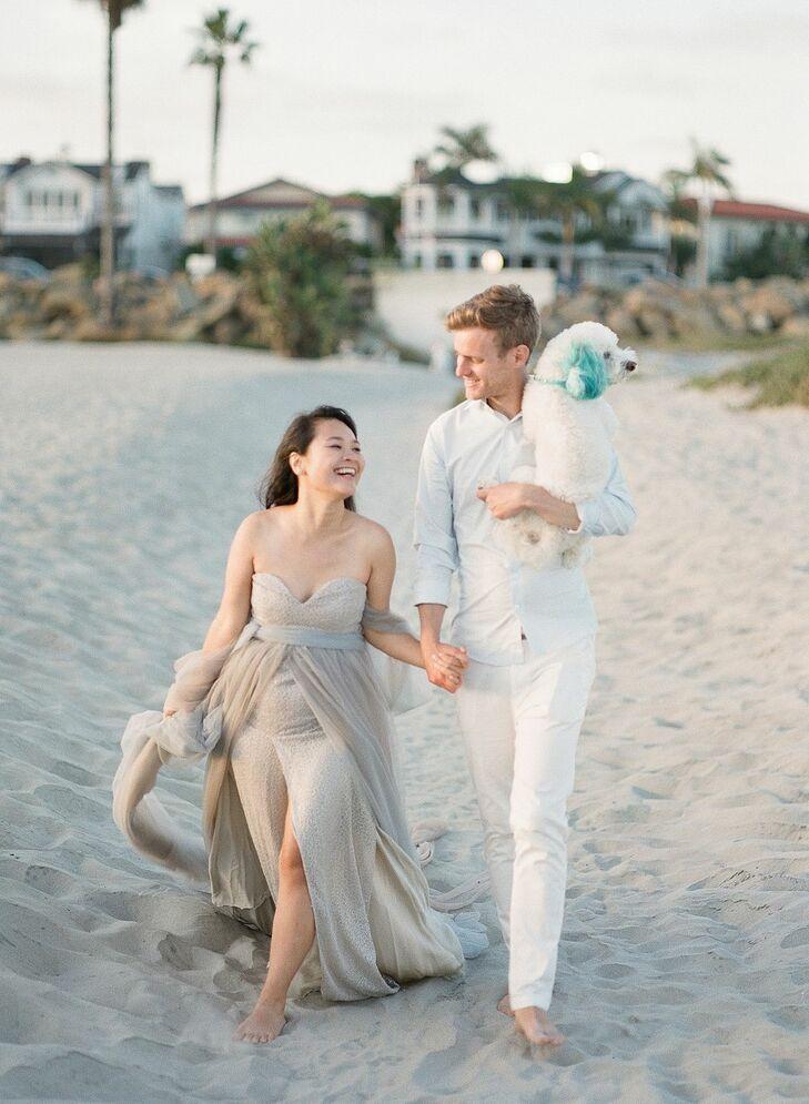 Couple Portraits at Beach Wedding in San Diego