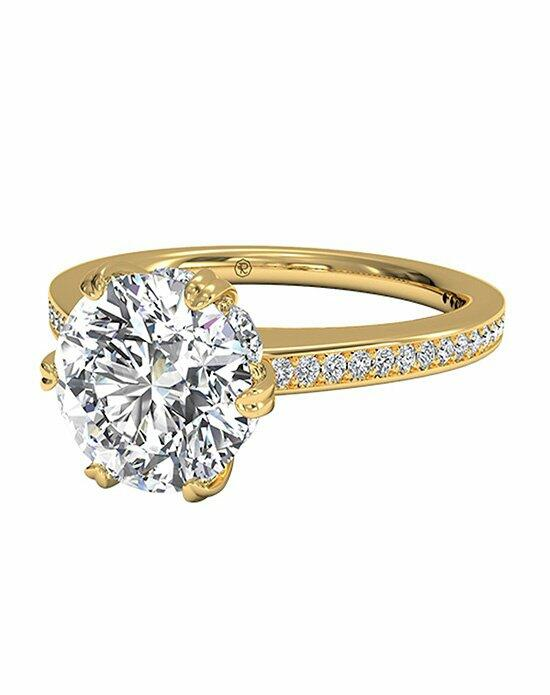 Ritani Round Cut Solitaire Diamond Six-Prong Micropavé Band Engagement Ring in 18kt Yellow Gold (0.54 CTW) Engagement Ring photo