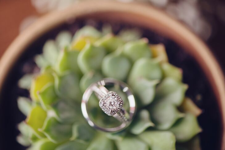 Cushion-Cut Diamond Ring with Halo