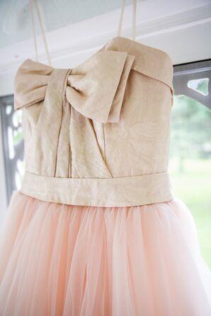 Vera Wang Gold and Pink Wedding Dress