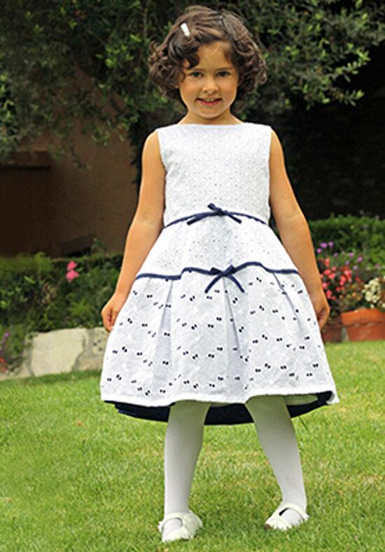 Isabel Garretón Treasure Girls Dress in Eyelet Flower Girl Dress photo
