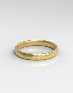 HOLDEN The Hammered Platinum, Rose Gold, White Gold Wedding Ring