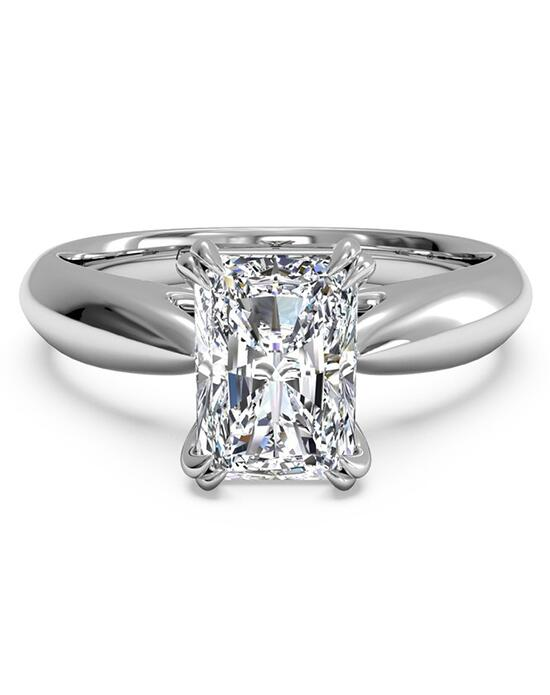 Ritani Solitaire Diamond Tulip Cathedral Engagement Ring - in 14kt White Gold for a Radiant Center Stone Engagement Ring photo
