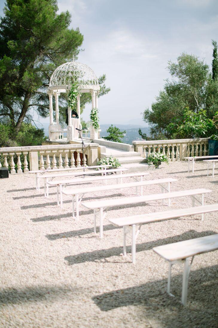 Château Saint George Hilltop Terrace Ceremony