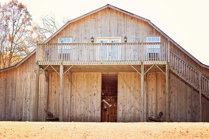 """""""We chose to get married at Densmore Farm because of its beauty and relaxed feel of the location,"""" says Kristy."""