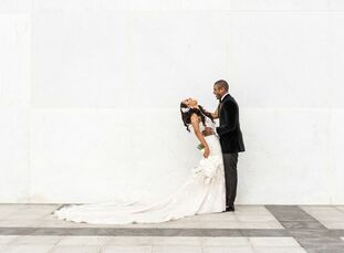 """Allison Robinson and Korey Neal chose Sequoia in Washington, DC, for their October wedding highlighted with mixed metals. """"Sequoia offers floor-to-cei"""