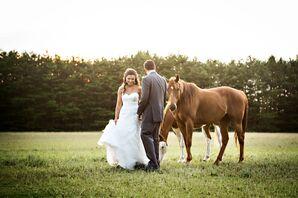Erin and Michael's Rustic Backyard Wedding