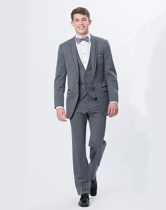 XEDO  Allure Men Iron Gray Tux Wedding Tuxedos + Suit photo