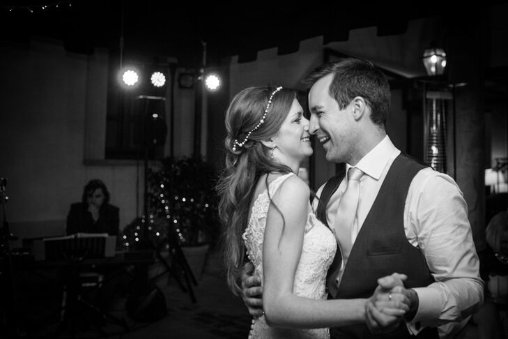 """Zoe and Guy had their first dance to a cover of """"L.O.V.E."""" by Nat King Cole. """"It was such a wonderful moment and I really took the time to take it all in how incredible the day had been so far,"""" Zoe says. """"I was truly happy to be dancing our first dance surrounded by friends and family."""""""