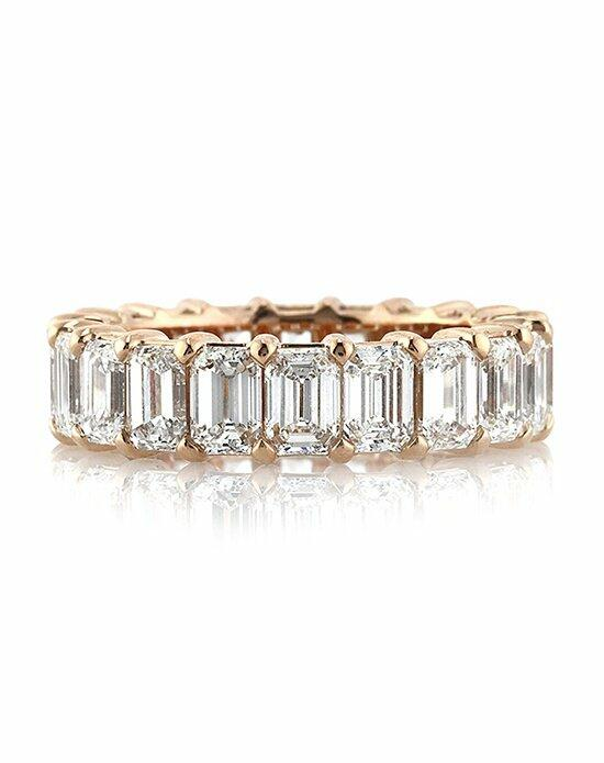 Mark Broumand 6.30ct Emerald Cut Diamond Eternity Band in 18k Rose Gold Engagement Ring photo