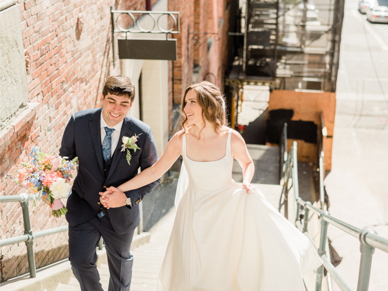 how to choose a wedding photographer couple smiling