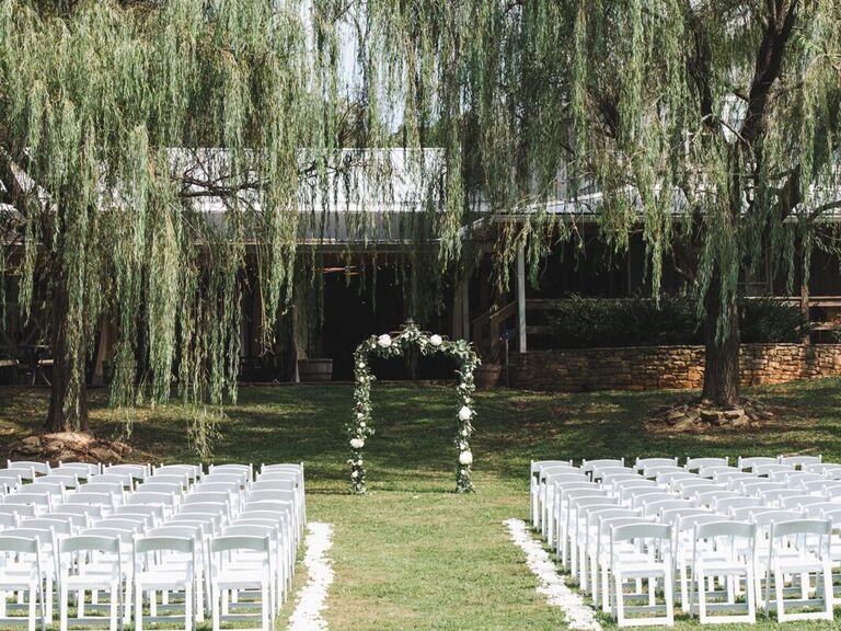 Farm wedding venue in Marble Hills, Georgia.