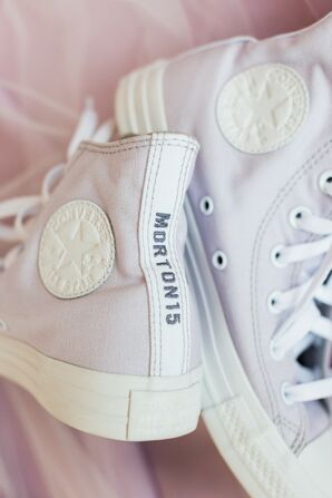 Custom Wedding Converse for Wedding at 701 Whaley in Columbia, South Carolina