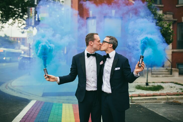 Instead of sticking to a specific theme or palette, Harrison and Jason wanted a wedding that reflected their unique interests, so they decided to get