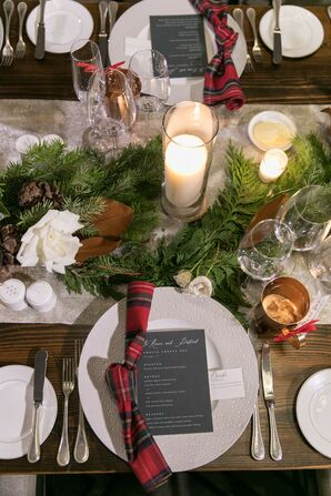 Christmas-Themed Tablescape for Chicago Wedding