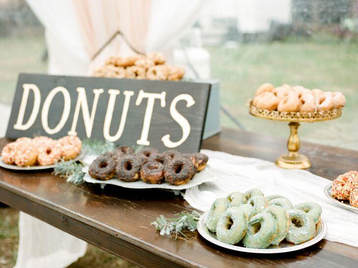 Donut Table at Farm Wedding