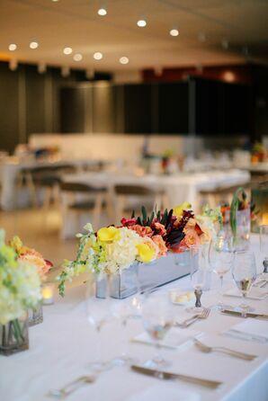 Low Colorful Floral Centerpieces