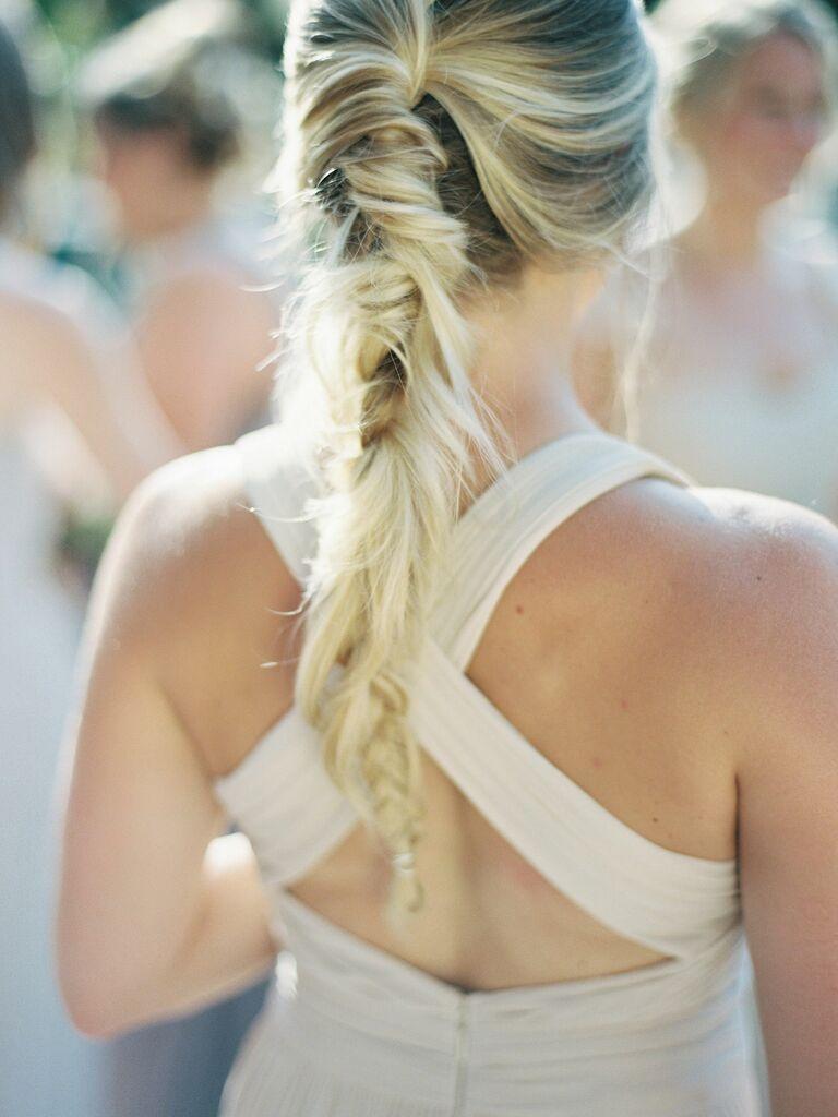 Wedding Guest Hairstyles Fishtail Braid