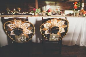 Mr. and Mrs. Wedding Signs with Sombreros
